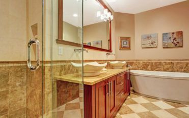 An assortment of various bathroom cabinet styles