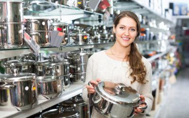Check out the cookware galore at Calphalon