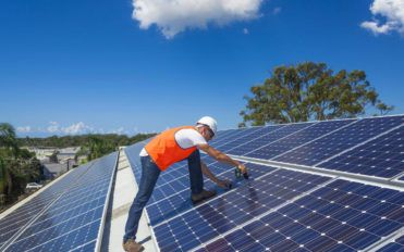 Conditions where the efficiency of solar panels can be tested