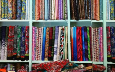 Different fabrics used to make outdoor cushions