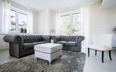 Find some comfortable space with leather sofas