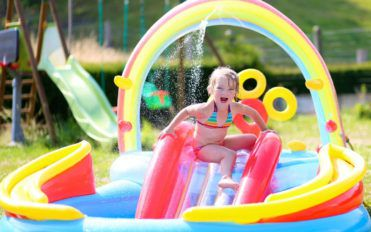 How to fix an inflatable water slide