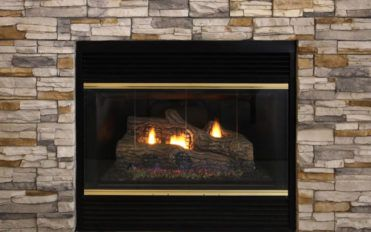 Natural gas fireplace for effective heating
