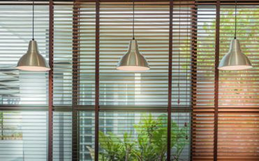 Pleated blinds for interior decoration purposes