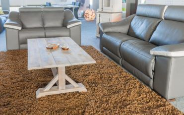 Relax and unwind with leather sofas