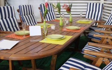 Time to maintain patio furniture seat cushions