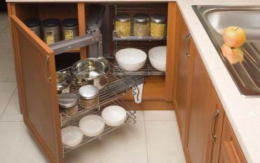 Ways to make kitchen storage cabinets more space efficient