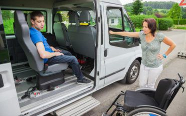Roadside assistance covers for wheelchair vans