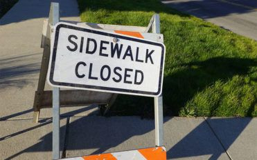 5 common types of sidewalk closed signs
