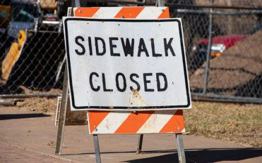 Sidewalk closed signs – Importance and correct placement